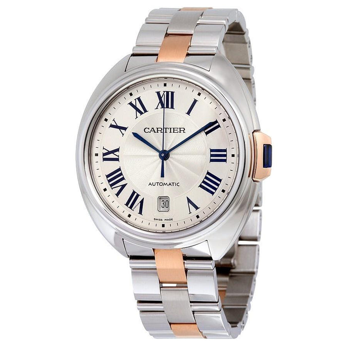 Cartier Cle Automatic 18kt Rose Gold Automatic Two-Tone Stainless Steel Watch W2CL0002