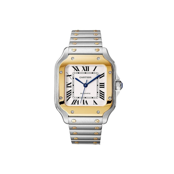 Cartier Santos Automatic Two-Tone 18K Gold-Tone and Stainless Steel Watch W2SA0007