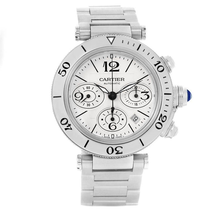 Cartier Pasha Automatic Chronograph Polished Stainless Steel Watch W31089M7