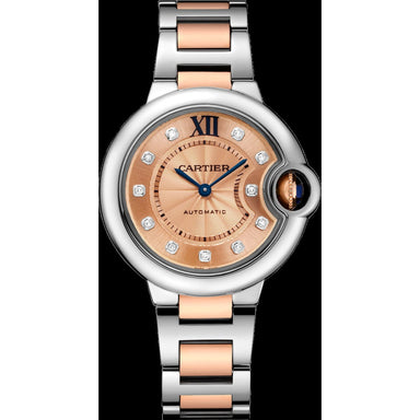 Cartier Ballon Bleu Automatic Diamonds Two-Tone Rose Gold-Tone Stainless Steel Watch W3BB0002
