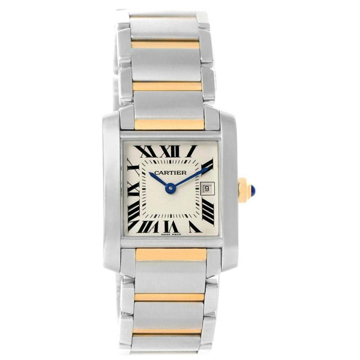 Cartier Tank Francaise Quartz Two-Tone Stainless Steel Watch W51012Q4