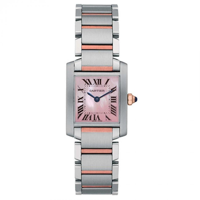 Cartier Tank Francaise Quartz 18k Rose Gold Two-Tone Stainless Steel Watch W51027Q4