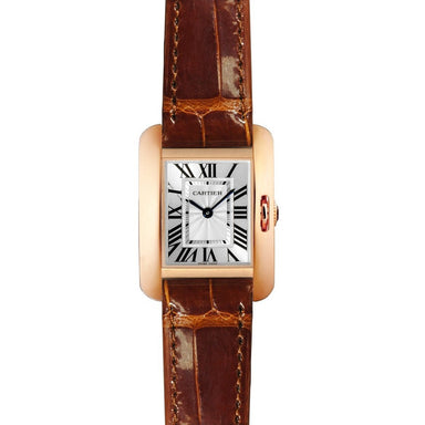 Cartier Tank Quartz Brown Leather Watch W5310027