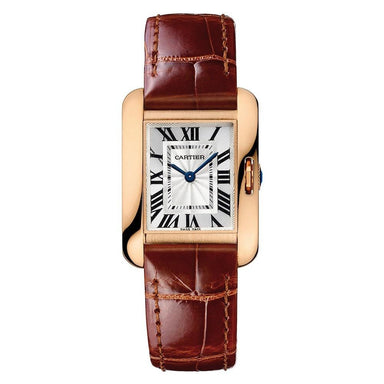 Cartier Tank Quartz Brown Leather Watch W5310028