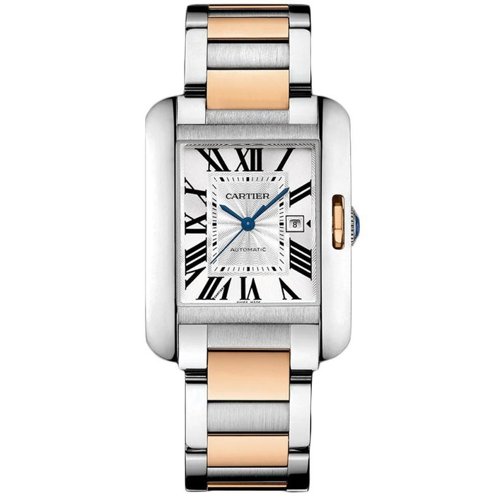 Cartier Tank Anglaise Quartz 18kt Rose Gold Automatic Two-Tone Stainless Steel Watch W5310037