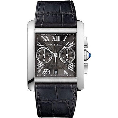 Cartier Tank Automatic Chronograph Grey Leather Watch W5330008