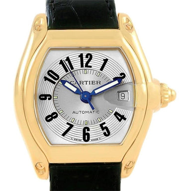 Cartier Roadster Automatic Black Leather Watch W62005V2