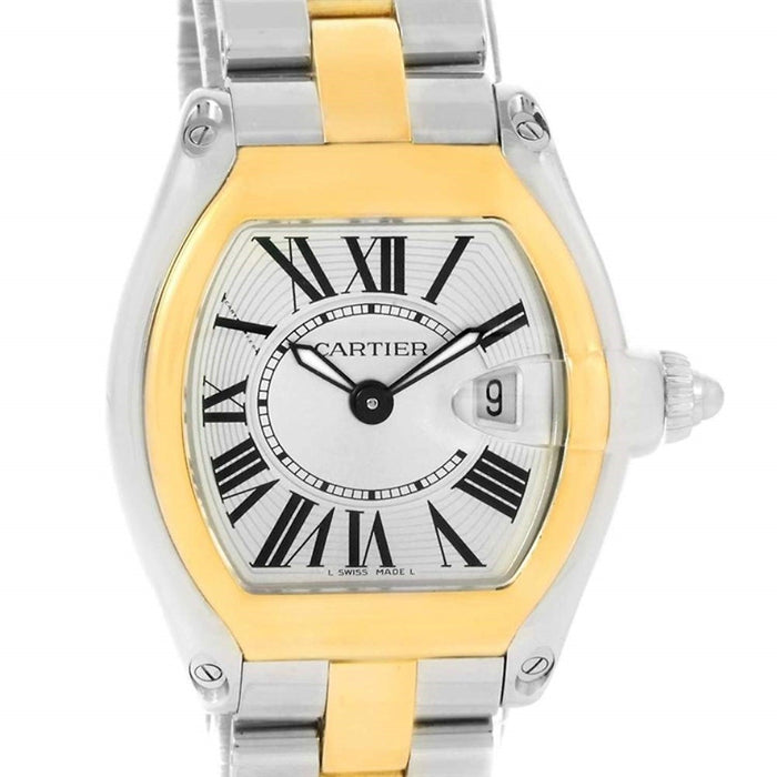 Cartier Roadster Quartz Two-Tone Stainless Steel Watch W62026Y4