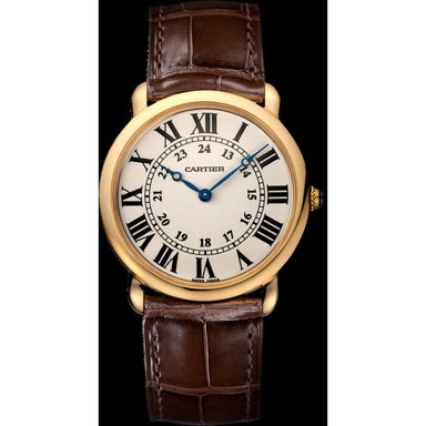 Cartier Ronde Louis Automatic Brown Leather Watch W6800251