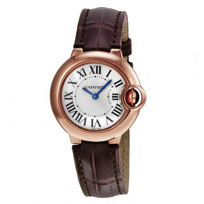 Cartier Ballon Bleu Quartz Brown Leather Watch W6900256