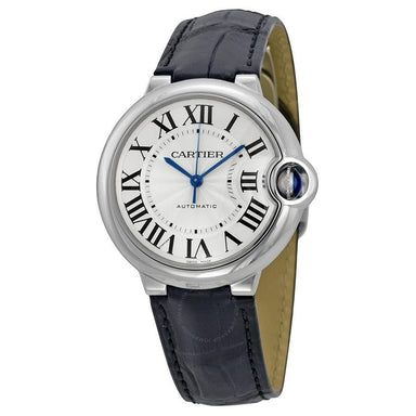 Cartier Ballon Bleu Automatic Automatic Black Leather Watch W69017Z4
