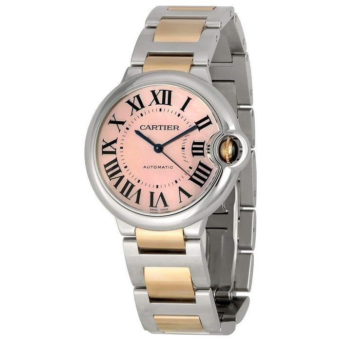 Cartier Ballon Bleu Automatic 18kt Rose Gold Automatic Two-Tone Stainless Steel Watch W6920033