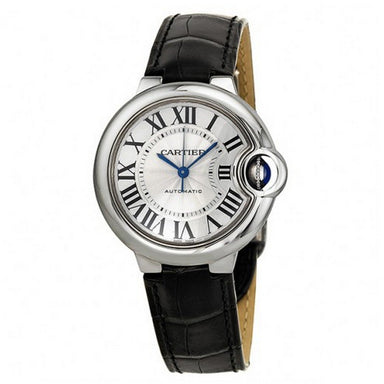 Cartier Ballon Bleu Automatic Automatic Black Leather Watch W6920085
