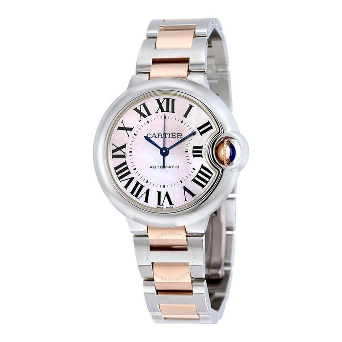 Cartier Ballon Bleu Automatic 18kt Rose Gold Automatic Two-Tone Stainless Steel Watch W6920098