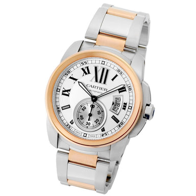 Cartier Calibre De Cartier Automatic Two-Tone Rose Gold-Tone Stainless Steel Watch W7100036