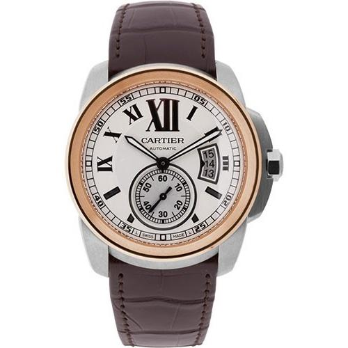 Cartier Calibre De Cartier Automatic Brown Leather Watch W7100039