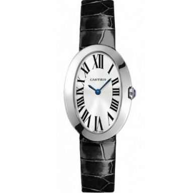 Cartier Baignoire Quartz Black Leather Watch W8000003