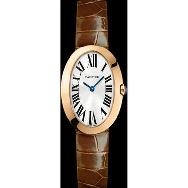 Cartier Baignoire Quartz Brown Leather Watch W8000007