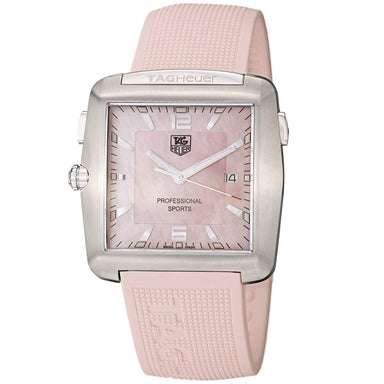 Tag Heuer Pro Golf Quartz Pink Rubber Watch WAE1114.FT6011