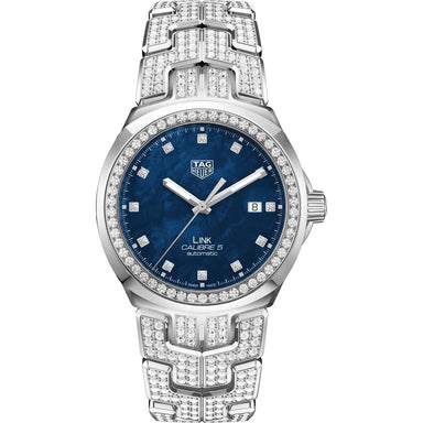 Tag Heuer Link Quartz Diamond Stainless Steel with Sets of Diamonds Watch WBC2116.BA0660