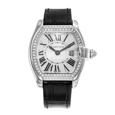 Cartier Roadster Quartz Black Leather Watch WE500260