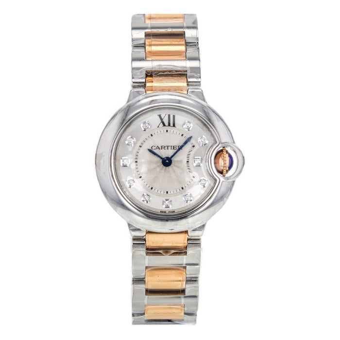 Cartier Ballon Bleu de Cartier Quartz Diamond Two-Tone Stainless Steel Watch WE902030