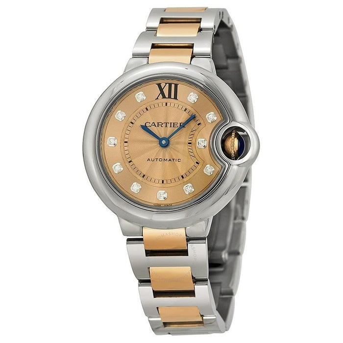 Cartier Ballon Bleu Automatic Diamonds Two-Tone Stainless Steel Watch WE902053