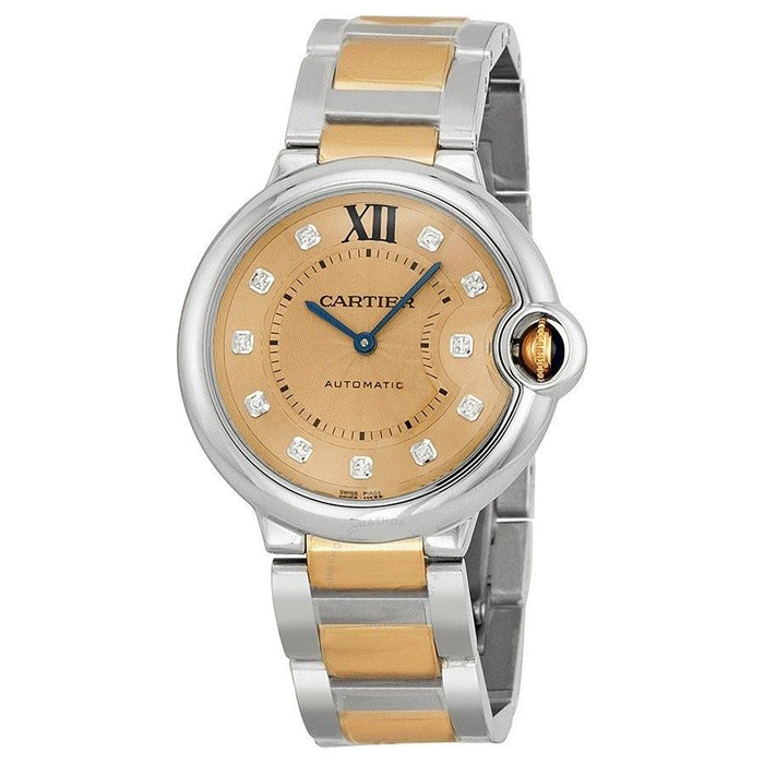 Cartier Ballon Bleu Automatic Diamonds Two-Tone Stainless Steel Watch WE902054