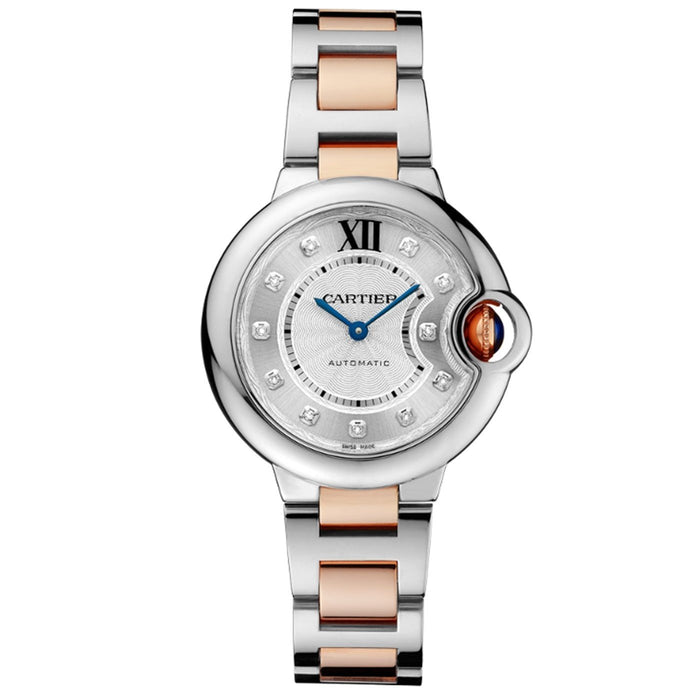 Cartier Ballon Bleu Automatic Diamonds Two-Tone Stainless Steel Watch WE902061