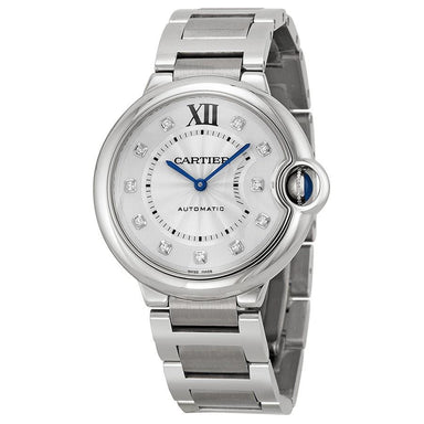 Cartier Ballon Bleu Automatic Automatic Diamond Stainless Steel Watch WE902075