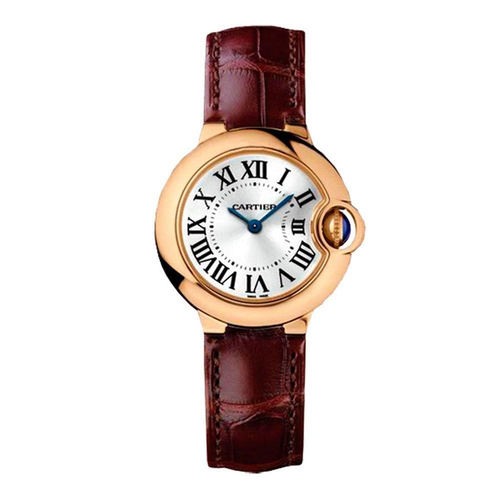 Cartier Ballon Bleu De Cartier Quartz Brown Leather Watch WGBB0007