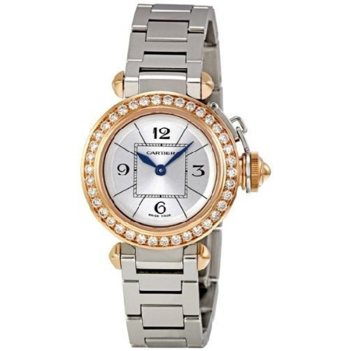 Cartier Pasha Quartz Stainless Steel Watch WJ124021