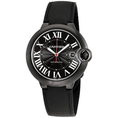 Cartier Ballon Bleu Automatic Automatic Black Fabric Watch WSBB0015
