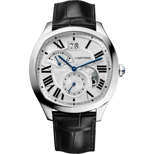 Cartier Drive De Cartier Automatic Black Leather Watch WSNM0005