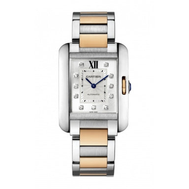 Cartier Tank Quartz Diamond Two-Tone Stainless Steel Watch WT100034
