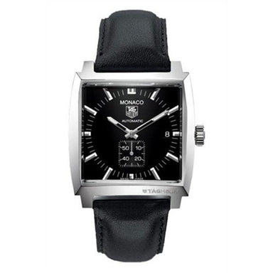 Tag Heuer Monaco Automatic Black Leather Watch WW2110.FC6171
