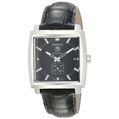 Tag Heuer Monaco Automatic Automatic Black Leather Watch WW2110.FC6177