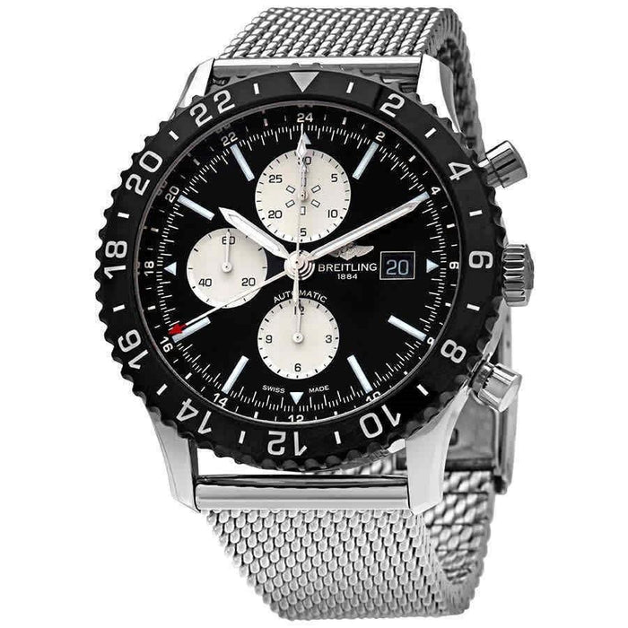 Breitling Chronoliner Automatic Chronograph Stainless Steel Watch Y2431012-BE10-443A