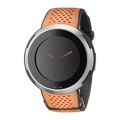 Gucci I-Gucci Grammy Museum Limited Edition Quartz Digital Orange Rubber Watch YA114104