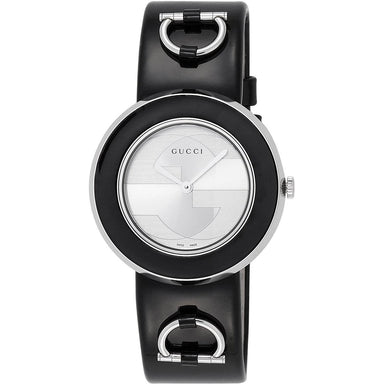 Gucci U-Play Quartz Black Leather Watch YA129417