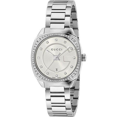Gucci GG2570 Small Quartz Diamond Stainless Steel Watch YA142505