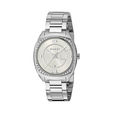 Gucci GG2570 Small Quartz Diamond Stainless Steel Watch YA142506