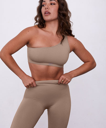 SCULPTFLEX® RIBBED ONE SHOULDER - SAND