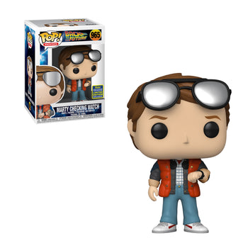 BACK TO THE FUTURE - MARTY CHECKING WATCH (SDCC EXCLUSIVE) (BOX IMPERFECTIONS)
