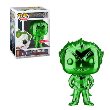 DC - ARKHAM ASYLUM: JOKER (GREEN CHROME) (EXCLUSIVE) (BOX IMPERFECTIONS)