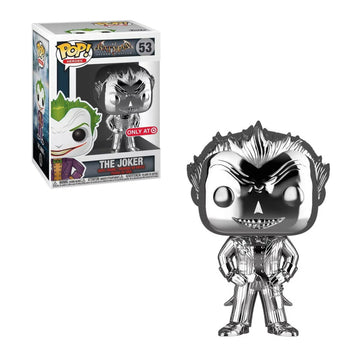 DC - ARKHAM ASYLUM: JOKER (SILVER CHROME) (EXCLUSIVE) (BOX IMPERFECTIONS)
