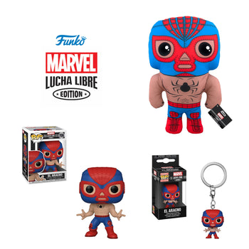 MARVEL - LUCHA LIBRE EDITION: EL ARACNO (SPIDER-MAN) (POP, PLUSH & POCKET POP KEYCHAIN SET)