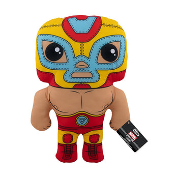 "17"" PLUSH - MARVEL - LUCHA LIBRE EDITION: EL HEROE INVICTO (IRON MAN)"