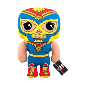 "17"" PLUSH - MARVEL - LUCHA LIBRE EDITION: LA ESTRELLA COSMICA (CAPTAIN MARVEL)"
