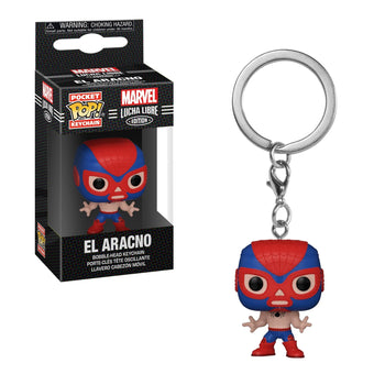 POCKET POP KEYCHAIN - MARVEL LUCHA LIBRE EDITION: EL ARACNO (SPIDER-MAN)